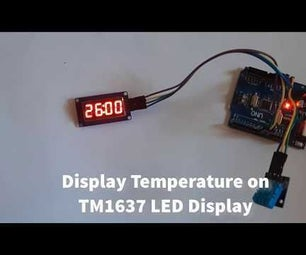 Arduino Display Temperature on TM1637 LED Display