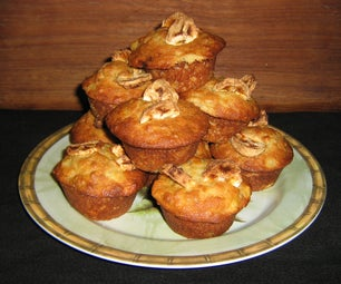 Pineapple/ Banana/ Sunflower Seed Cupcakes