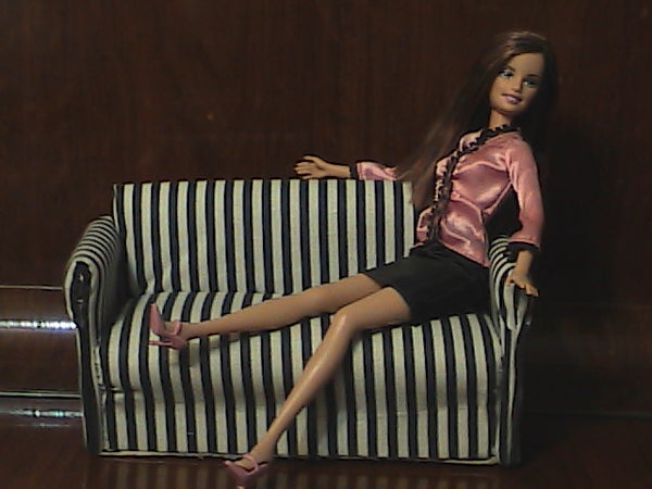 Recycled Cardboard - Doll Sofa