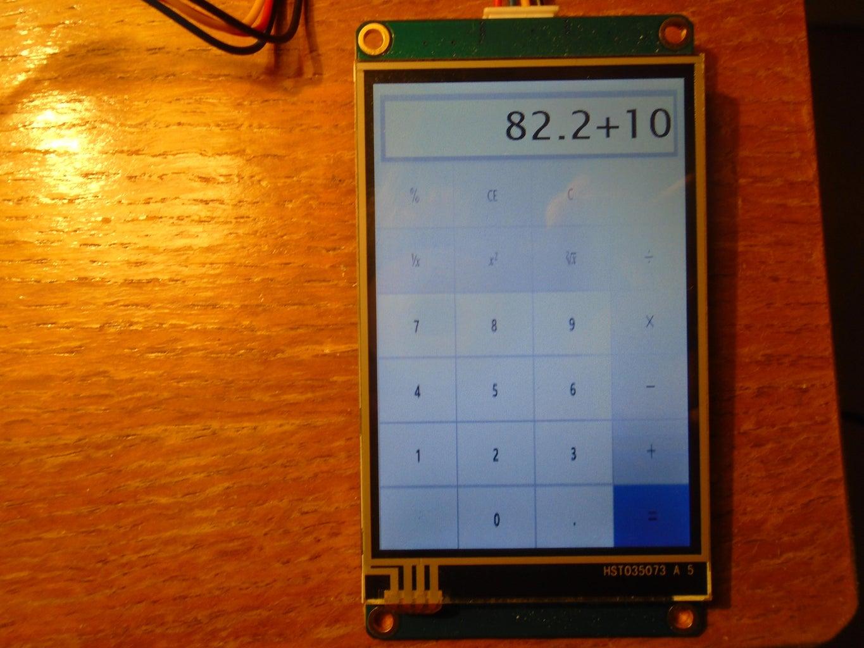 Nextion/Arduino Calculator