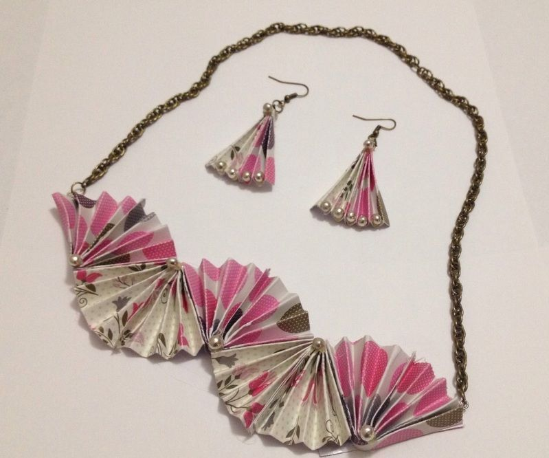 DIY Folded Paper Jewelry