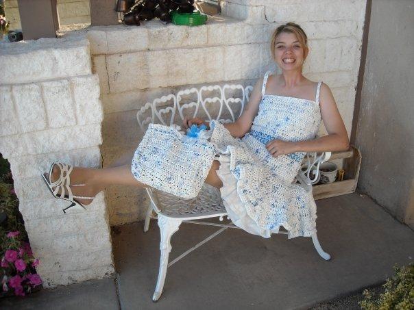 Plastic Dress and matching Purse