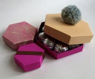 Hexagonal Cardboard Gift, Jewellery or Chocolate Box