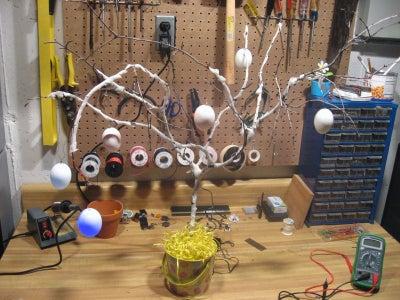 Dollar Store LED Egg Easter Tree