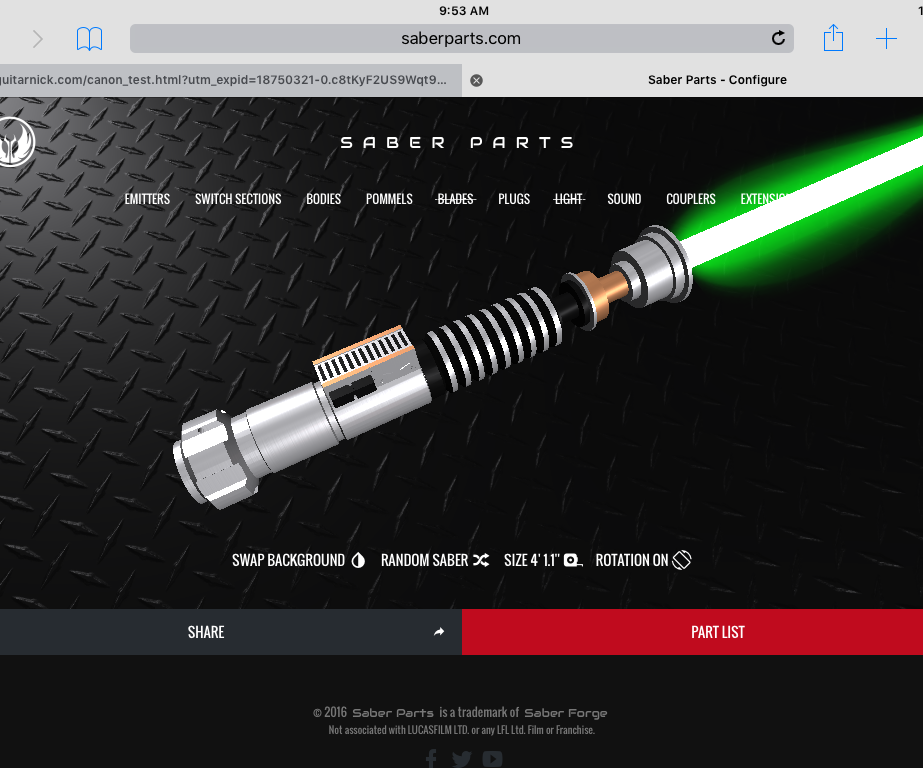 How to create a lightsaber for a Star Wars character for under 40 dollars!