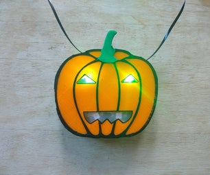 Wearable Light Up Jack-O-Lantern