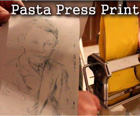 Easy Etching with a pasta press