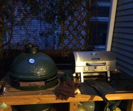 Big Green Egg and Gas Grill Table