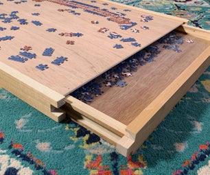 带储藏室的木制拼图托盘