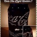 Soporte para luz de té de Coca Cola
