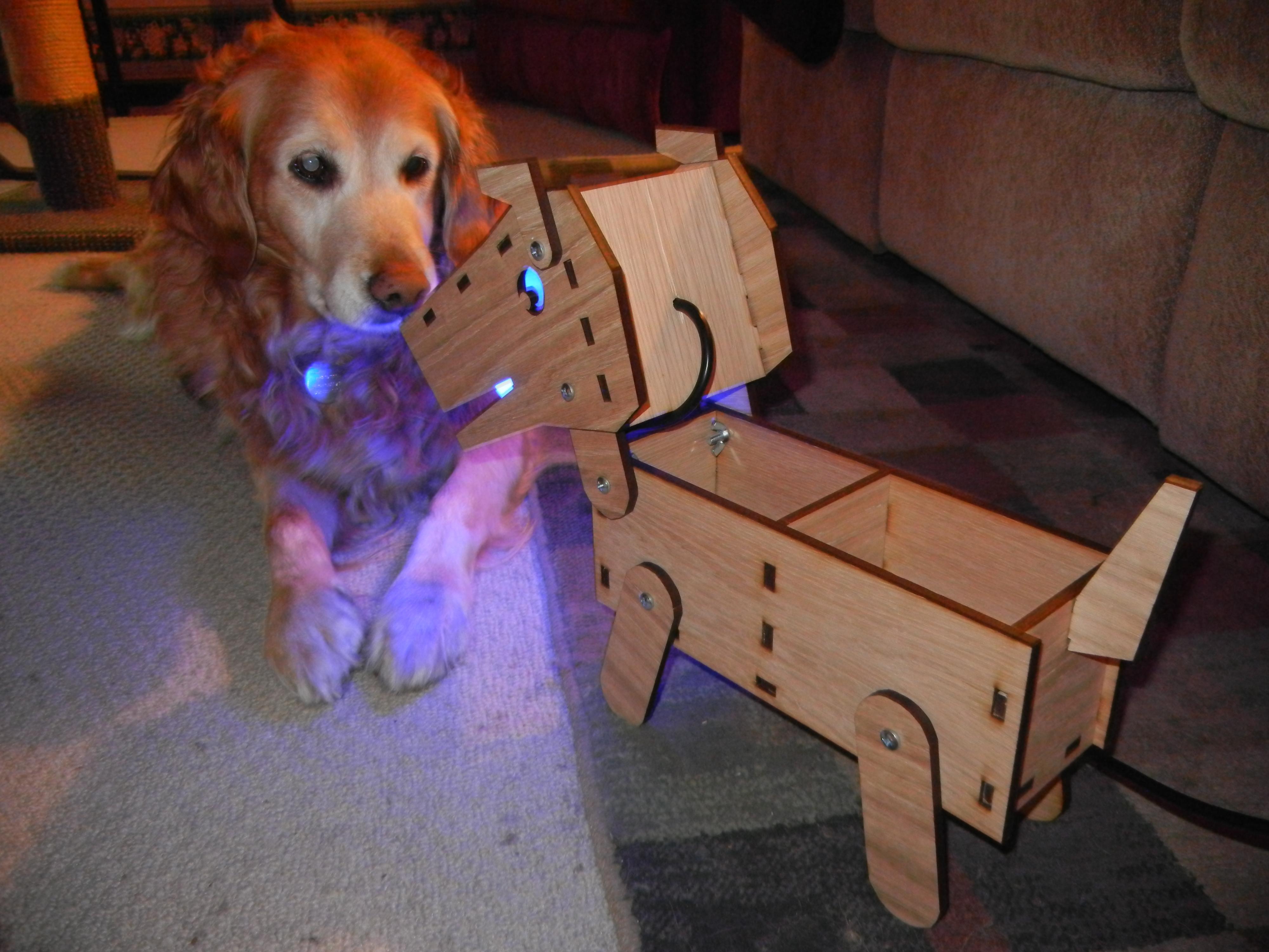 LED Doggy Lamp/Desk Organizer