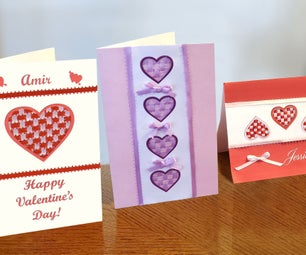 Woven Hearts Greeting Cards