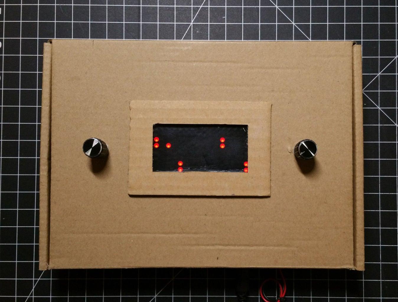 8x16 LED Matrix Pong Game (2 Paddles Per Player Version)