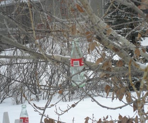 Glass Bottle Tree Decor