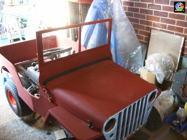 Gas (petrol) Powered Jeep From Ride on Mower