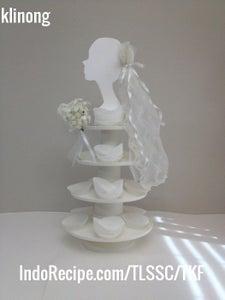 Wedding/Bridal Cupcake Stand DIY