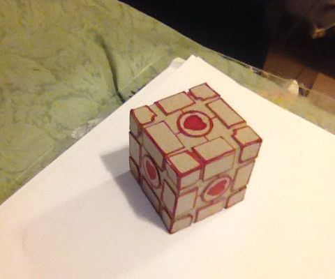 Cardboard Weighted Companion Cube