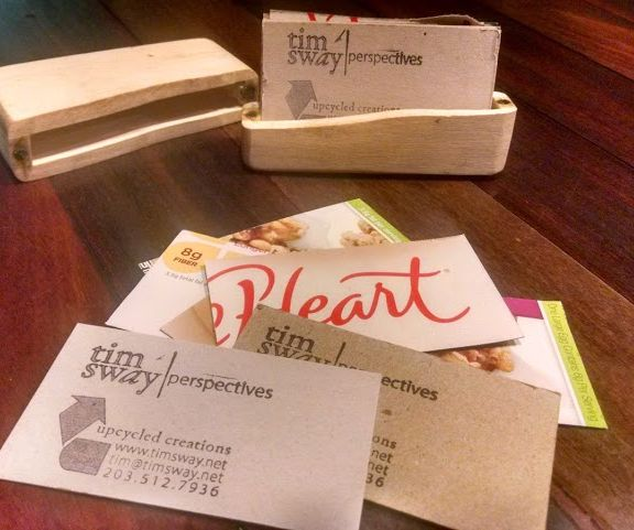 easy homemade upcycled business cards