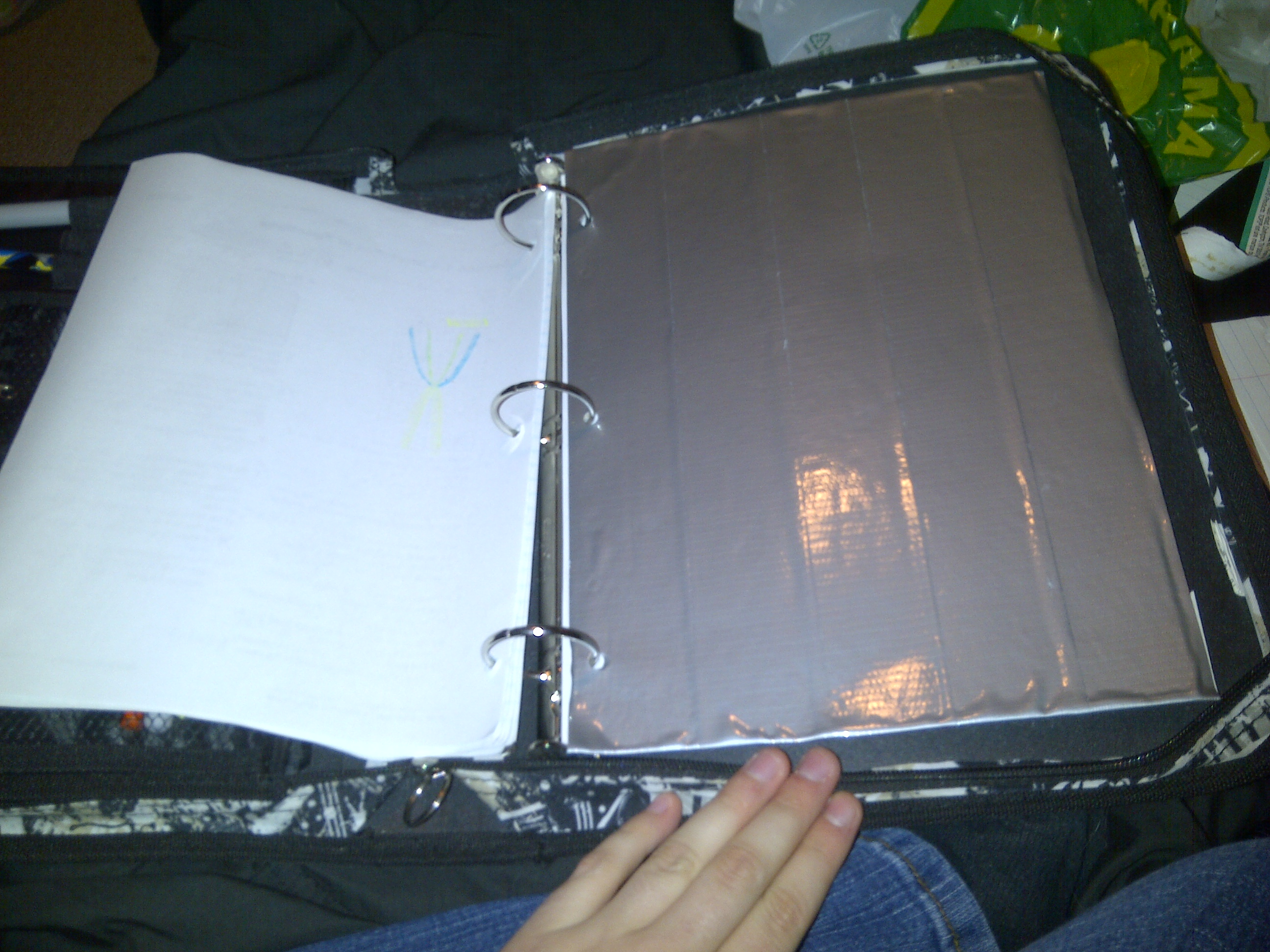 Cardboard and Duct Tape Dividers for School