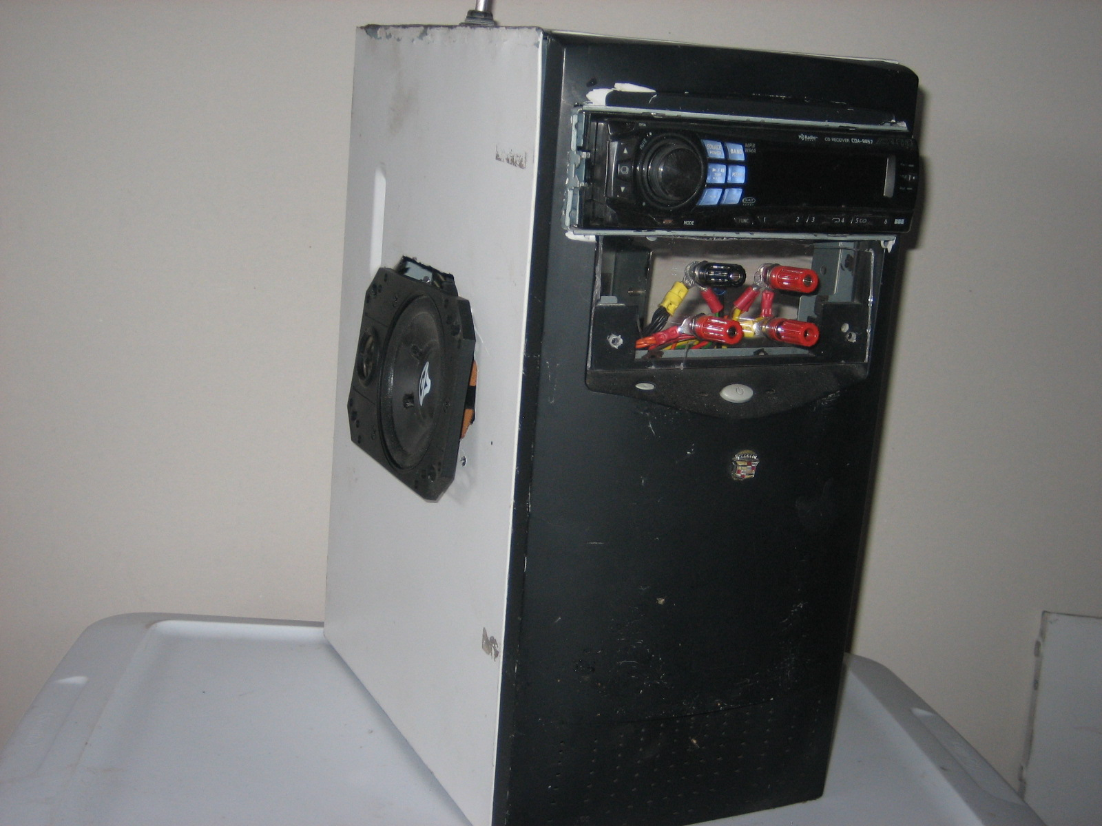 Convert a old computer into a stereo