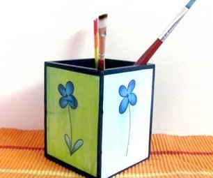 Decoupage Pen Holder Craft for Kids