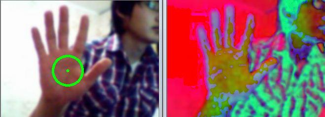 play tetris games using hand motion via RGB camera