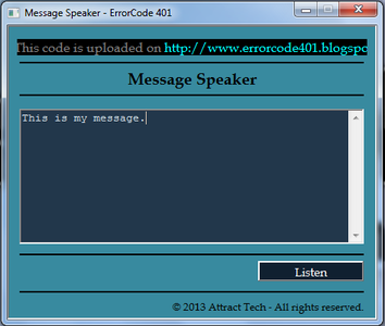 Make Your Computer Speak What You Type Using Notepad