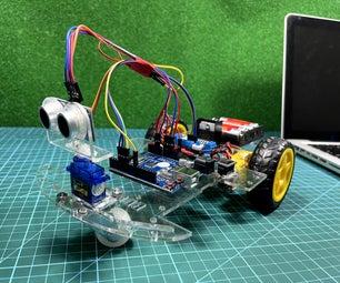 Arduino避障机器人车2WD与AA电池