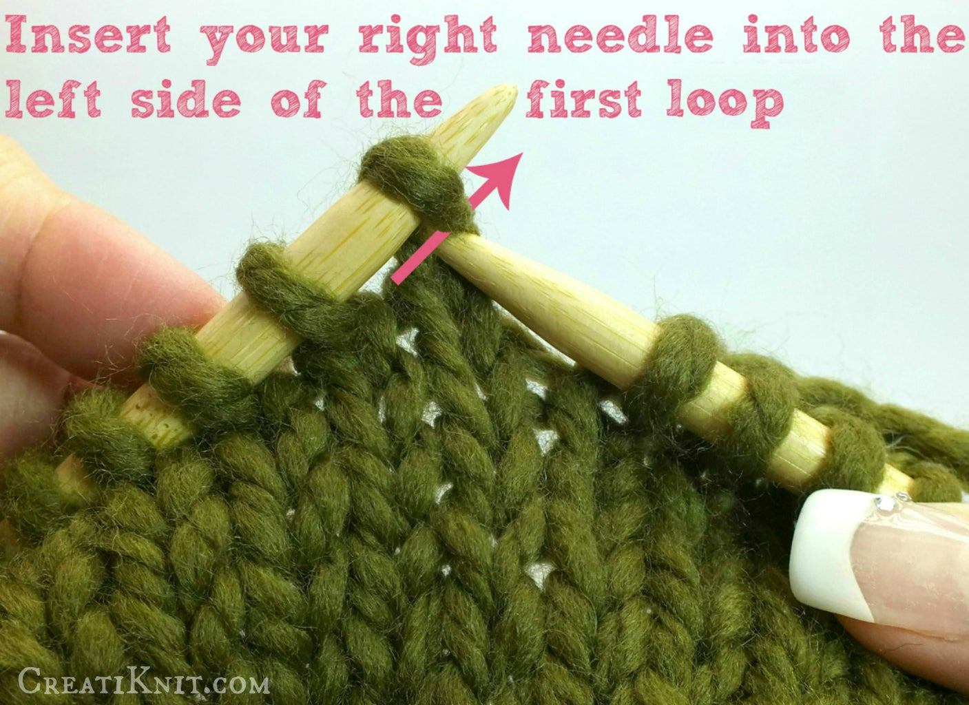 """You Will Create a """"V"""" When You Knit As Shown Below"""