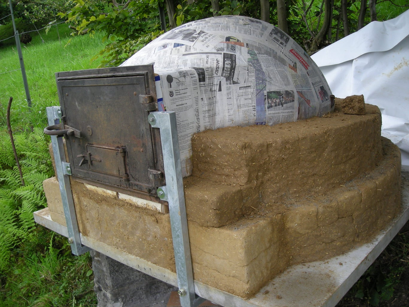 Building the Oven / Making the Building Material