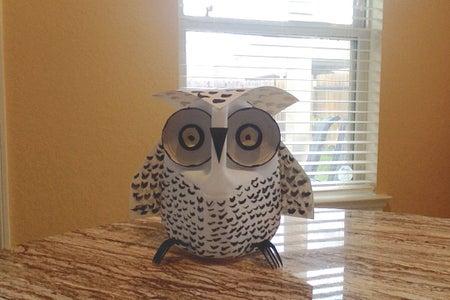 A DIY Milk Jug Snow Owl