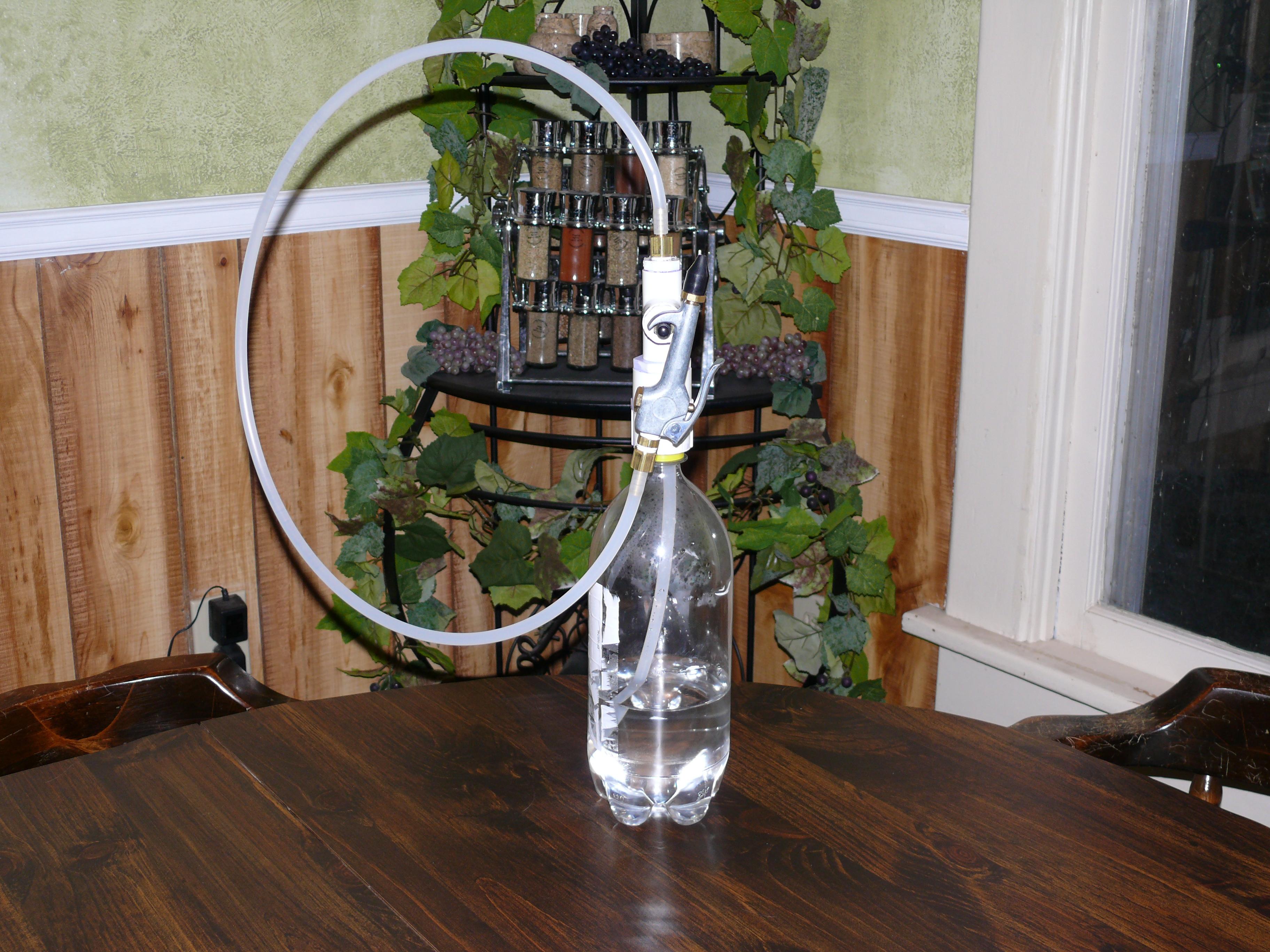 Pressurized Spray Bottle from old 2-liter