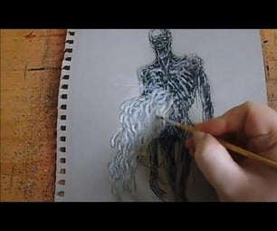 Drawing Infested Dark Souls Corpse From the Dark Souls 3 Game