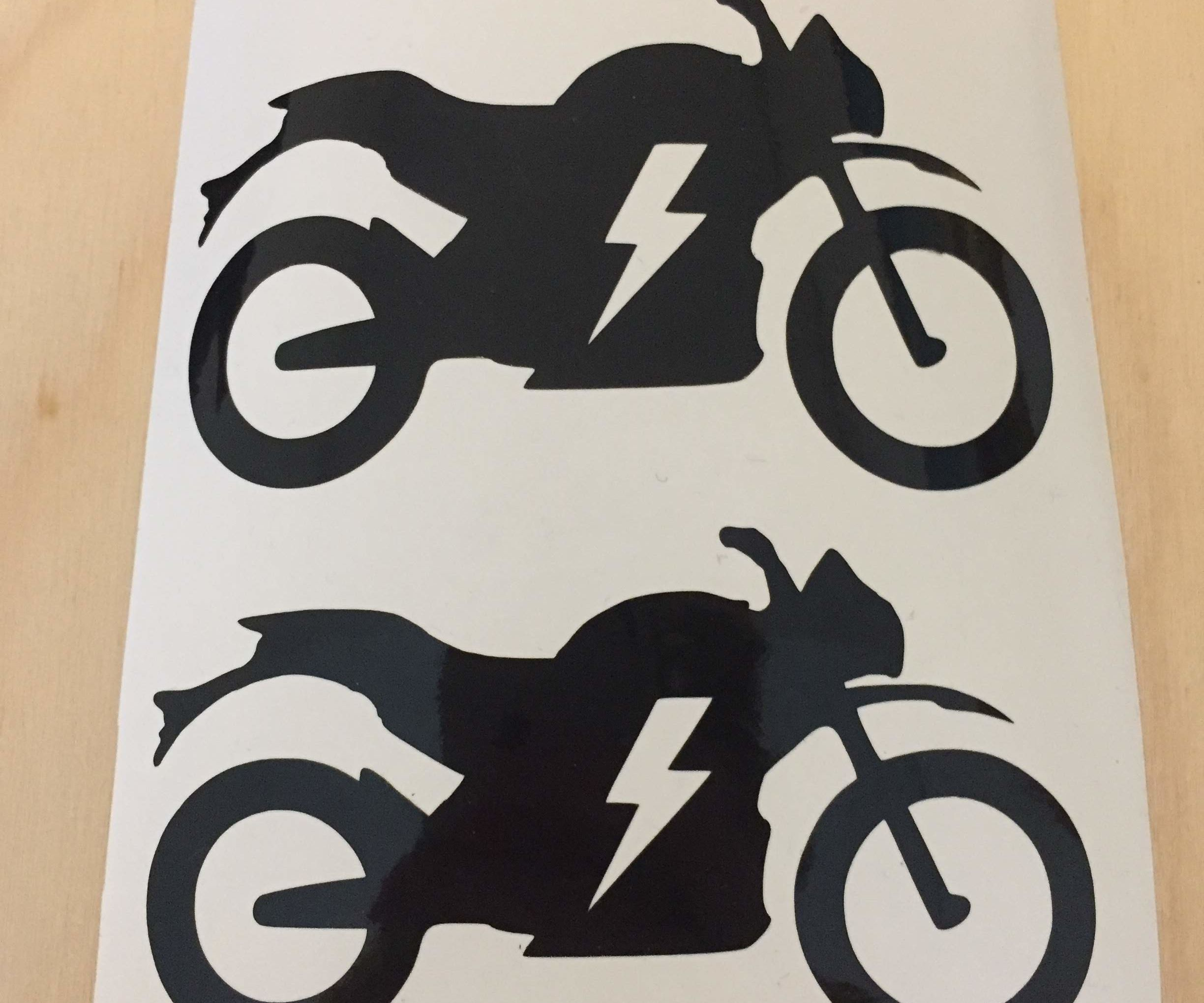 Electric Motorbike Sticker to Customize Ev Charging Sign