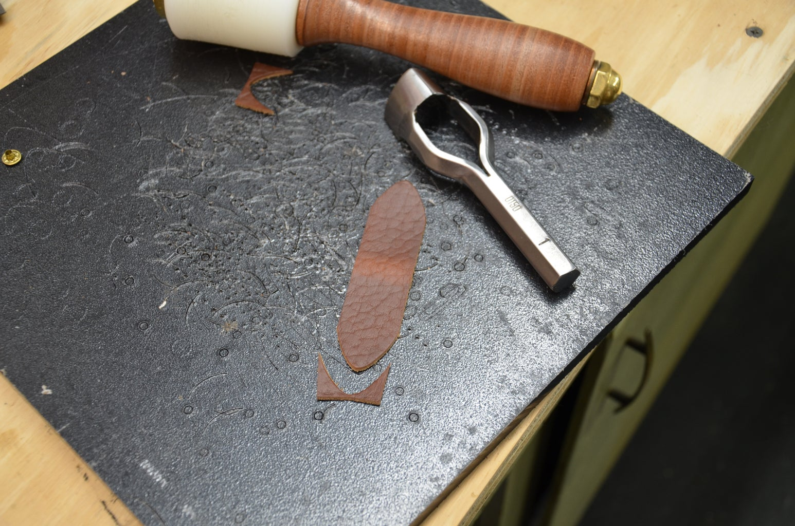 Step 4: Burnishing Edges and Punching End Points