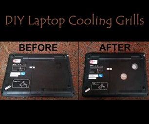 DIY Laptop Cooling Grills