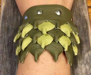 Leather Mini Dragon Scale Bracelet