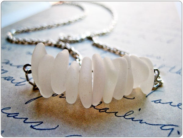 Washed Ashore Sea Glass Floating Necklace