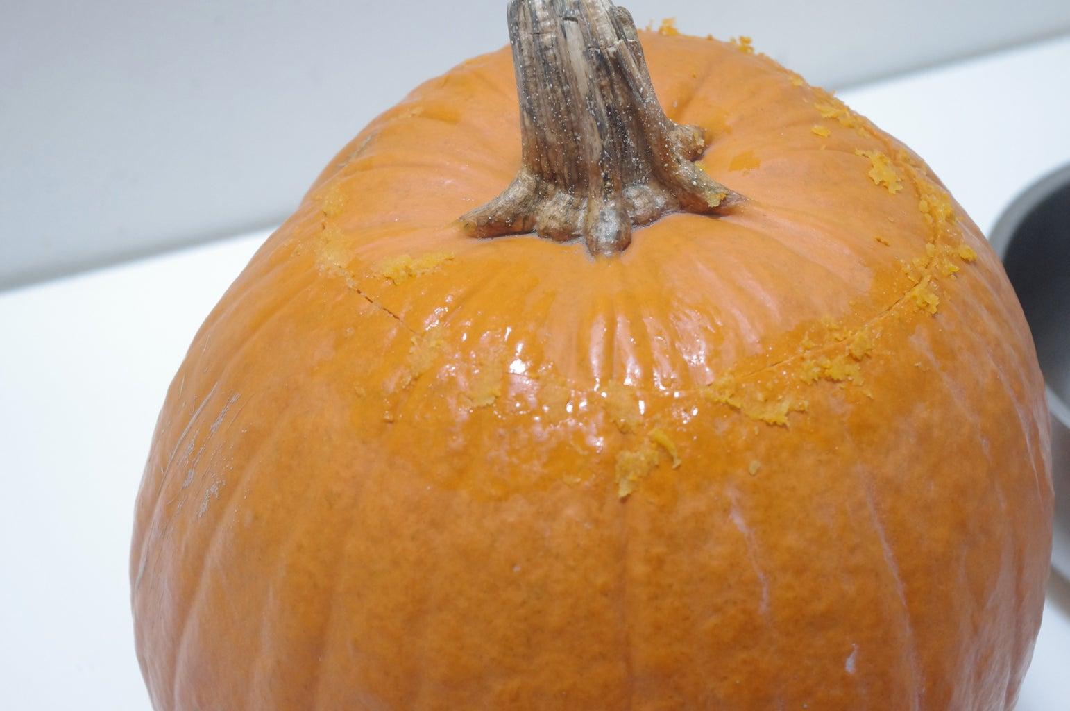 Open and Clean Pumpkin