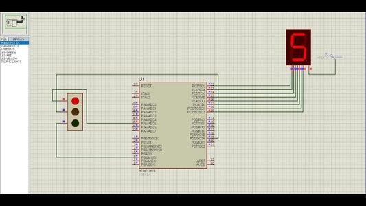Atmega16 Based Traffic Light Project Prototype Using 7 Segment Display(Proteus Simulation)
