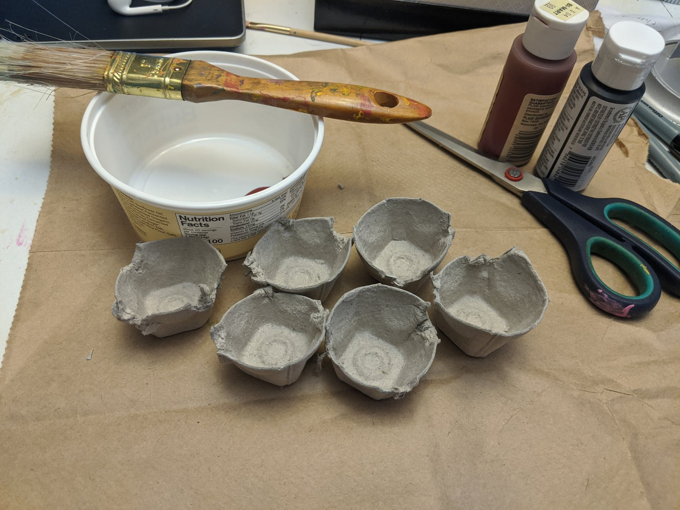 Paint the Inside of the Cups.