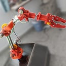 Moslty 3D-printed Robotic Arm That Mimics Puppet Controller