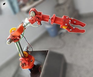 Moslty 3D-printed Robotic Arm That Mimics Puppet Controller