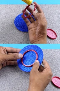 Let's Stick the Bangle on the Center of the Cardboard!