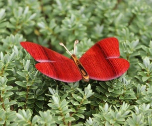 DIY Wooden Butterfly | How to Make a Red Bloodwood Ornament