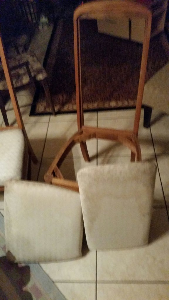 Reupholster Fabric Dining Room Chairs. With Bonus - Use Scraps to Make a Patchwork for Reupholstering. Showing Steps I Used.