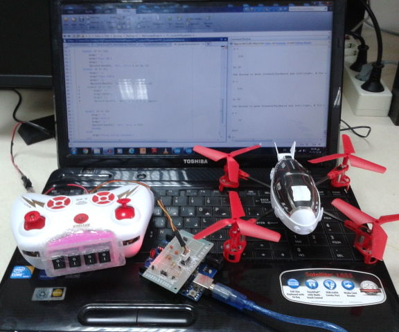Computer controlled quadrotor: The easiest way