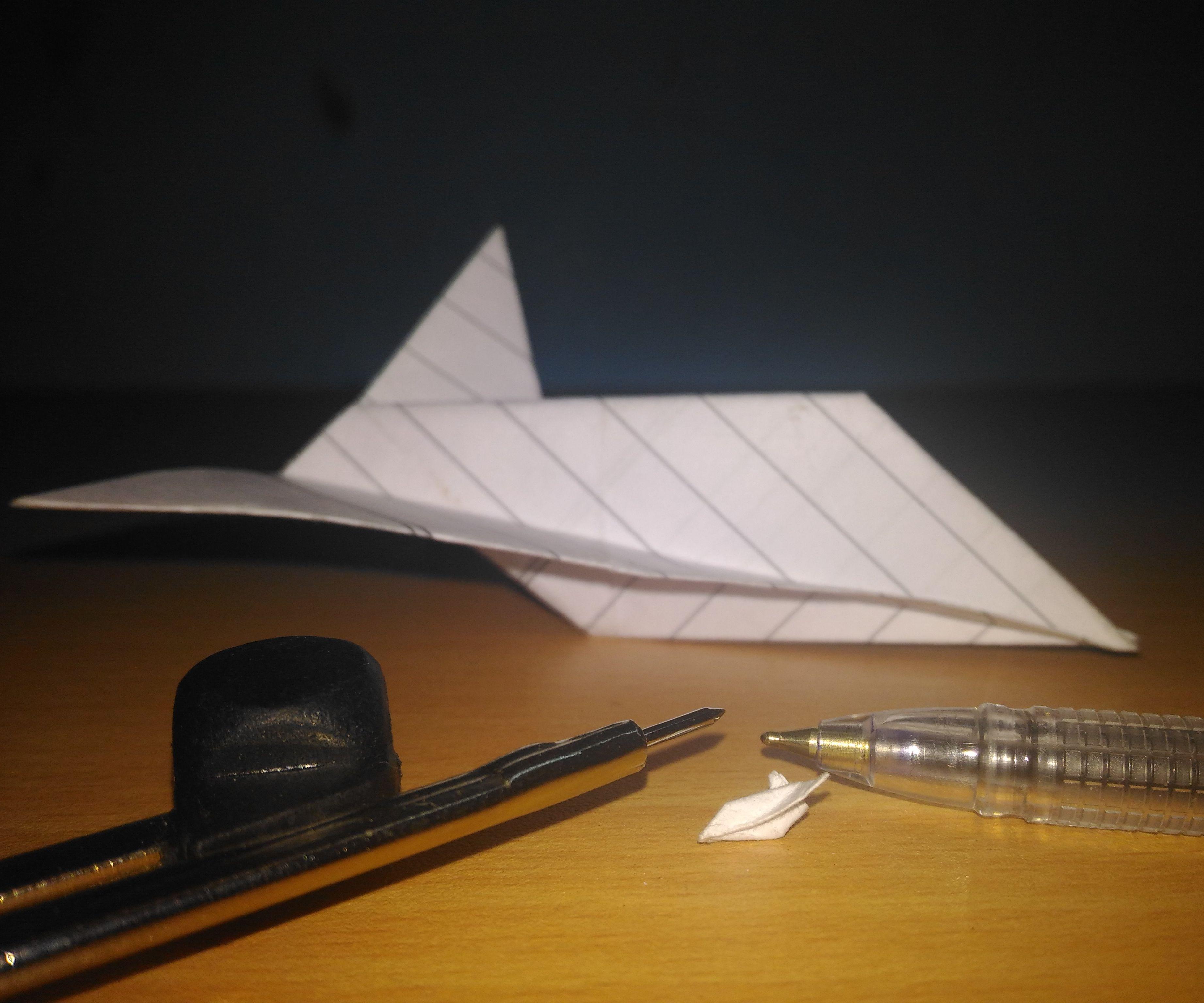 Pen Nib Size Paper Plane