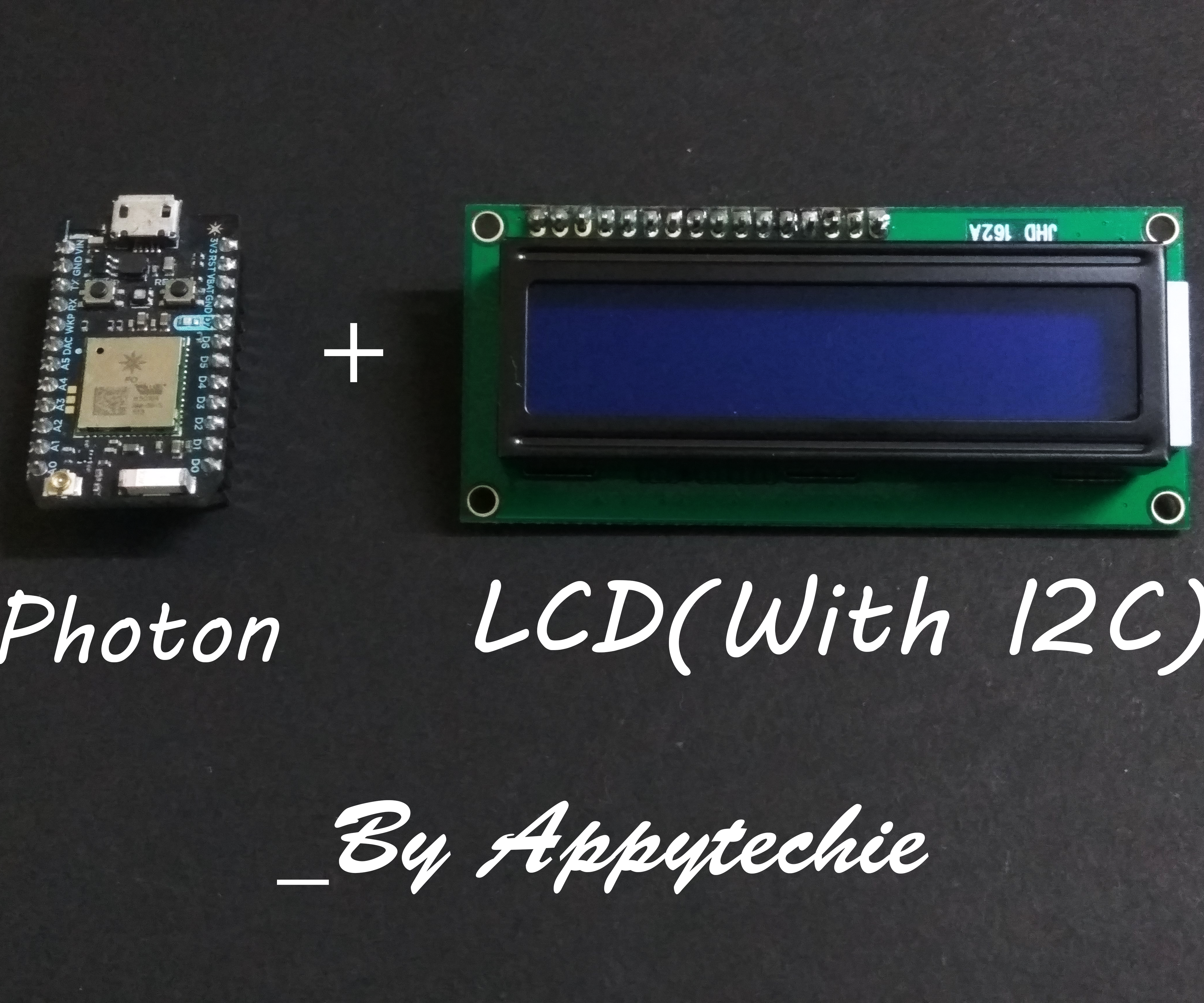 Photon:Connect LCD With I2C