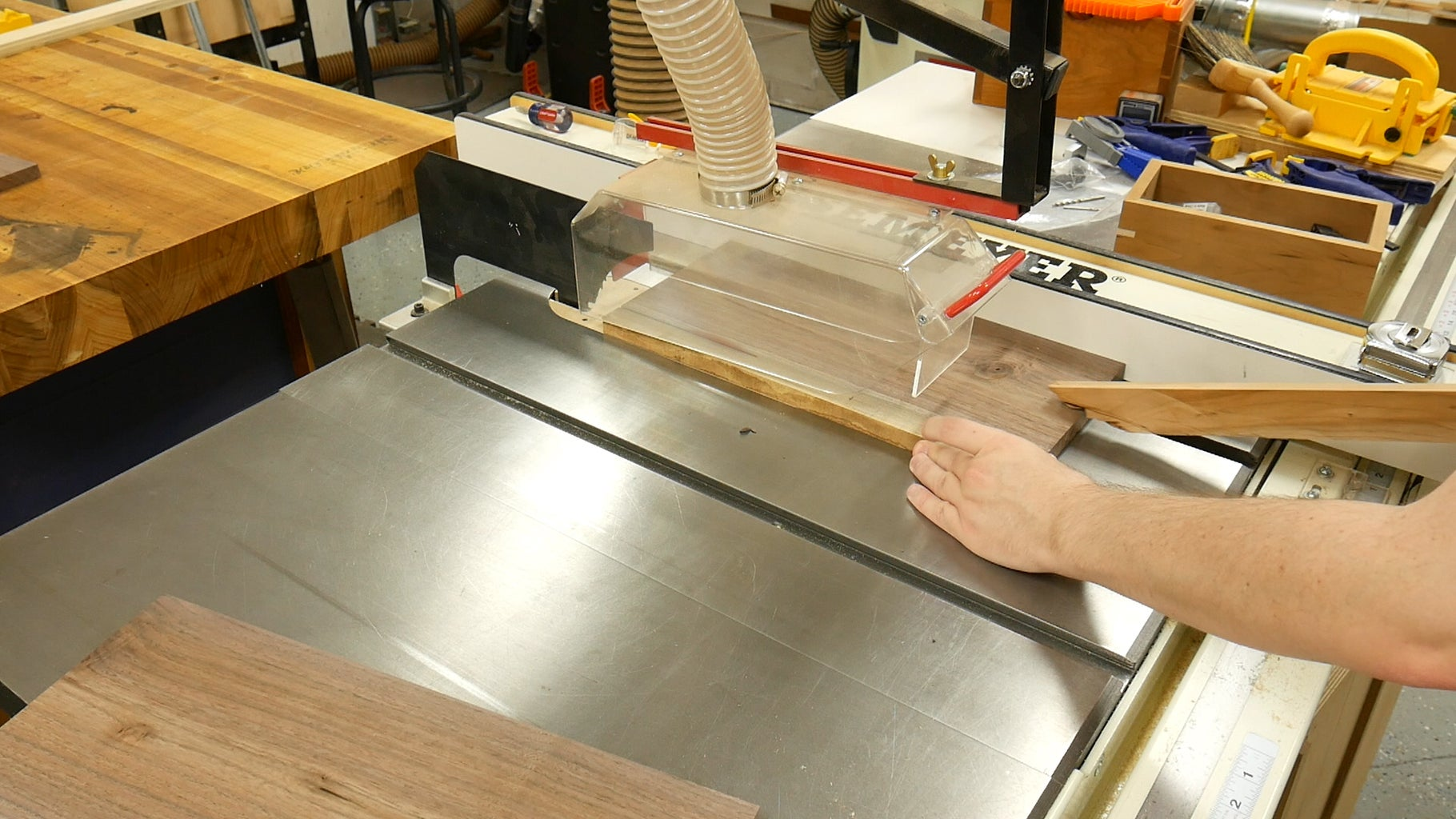 Cutting Walnut Drawer Fronts to Size